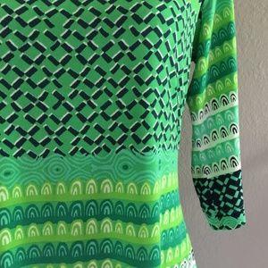Donna Morgan Dresses - Donna Morgan Green Blue Geometric Shift Dress 10